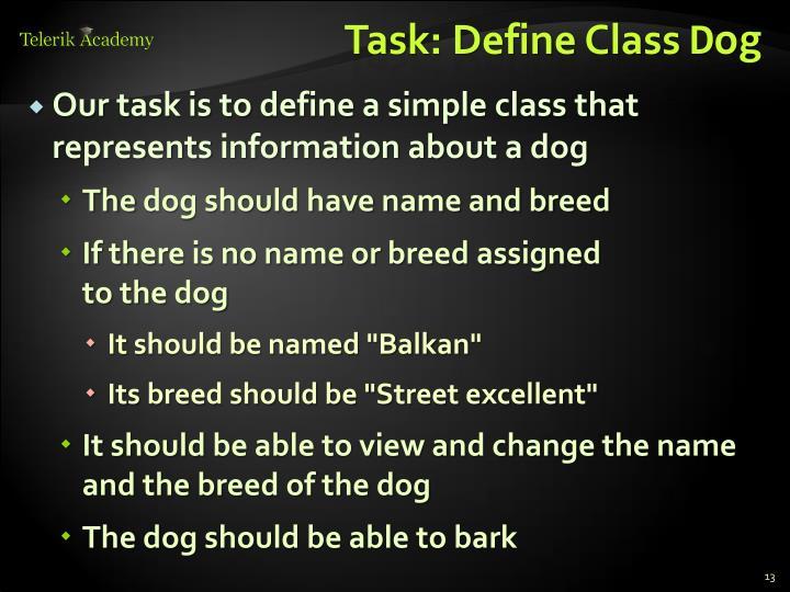 Task: Define