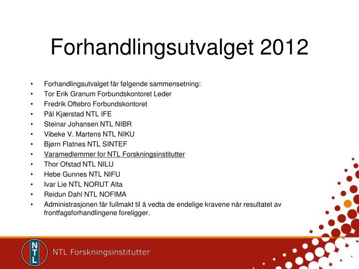 Forhandlingsutvalget 2012