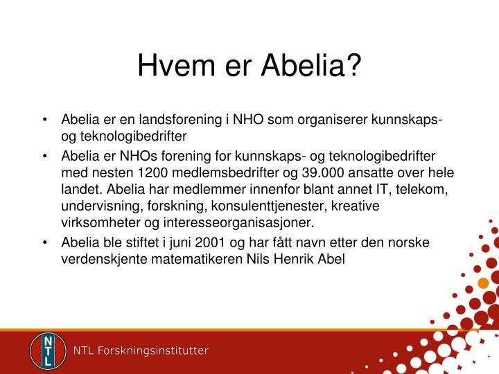 Hvem er Abelia?