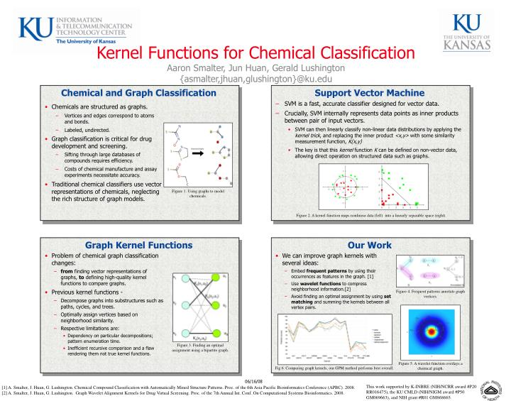 Kernel Functions for Chemical Classification