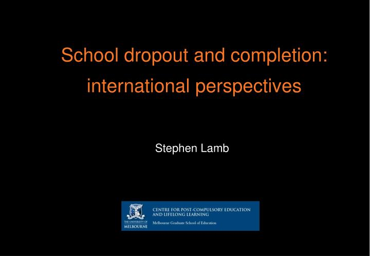 minimizing high school dropouts social perspective Decreasing students tardiness the teachers perspective where almost all teachers who take first promoted from their middle school to high school.