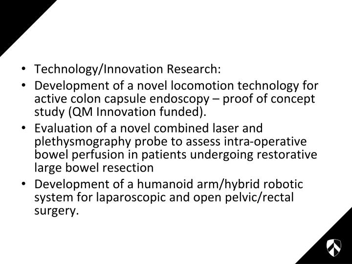 Technology/Innovation Research: