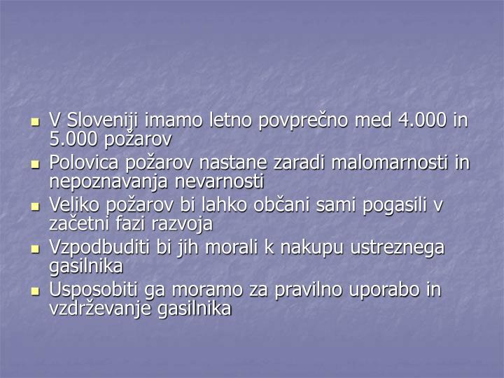 V Sloveniji imamo letno povprečno med 4.000 in 5.000 požarov