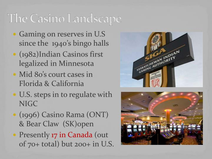 The casino landscape