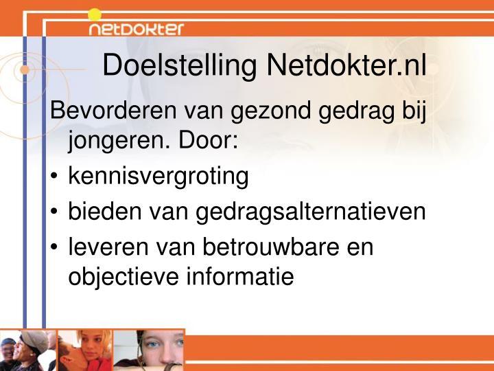 Doelstelling Netdokter.nl