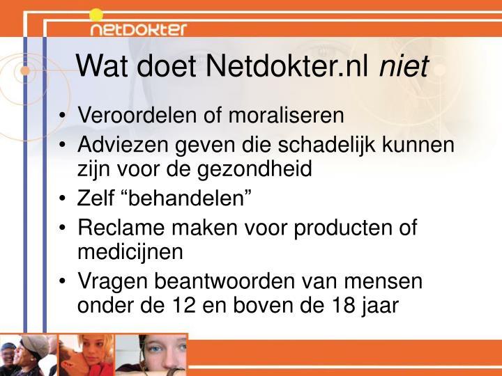 Wat doet Netdokter.nl