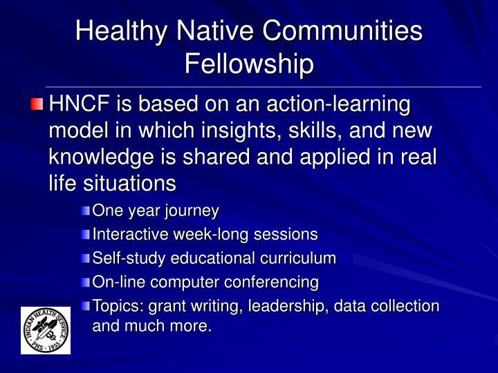Healthy Native Communities Fellowship