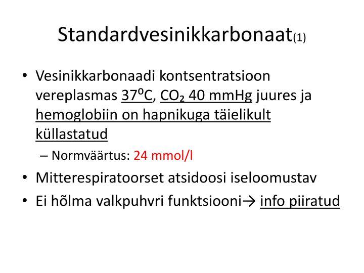 Standardvesinikkarbonaat