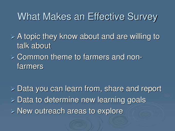 What Makes an Effective Survey