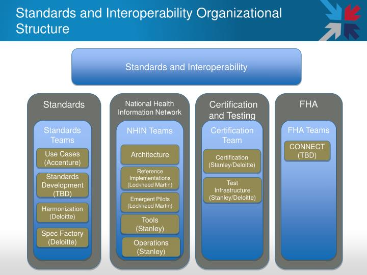 Standards and Interoperability Organizational Structure