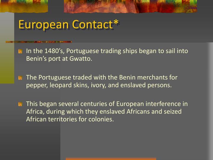 European Contact*