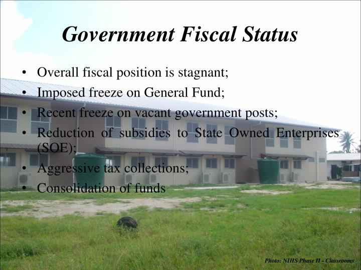Government Fiscal Status