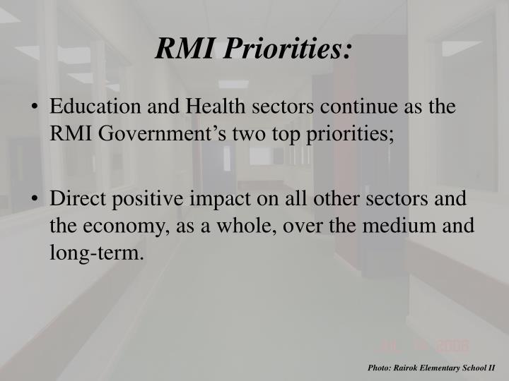 RMI Priorities: