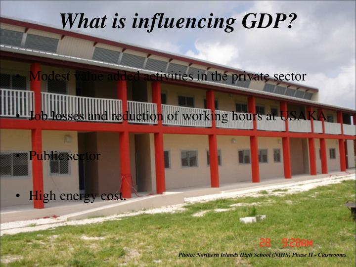 What is influencing GDP?