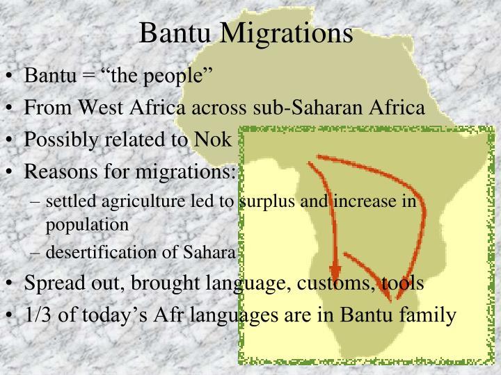 Bantu Migrations