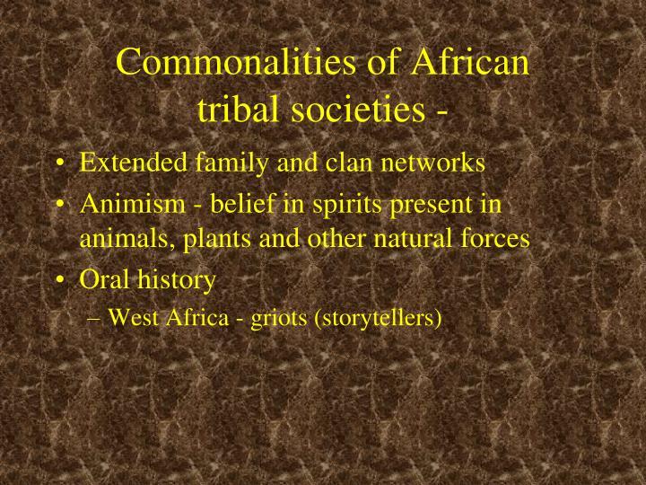 Commonalities of African