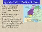 spread of islam decline of ghana