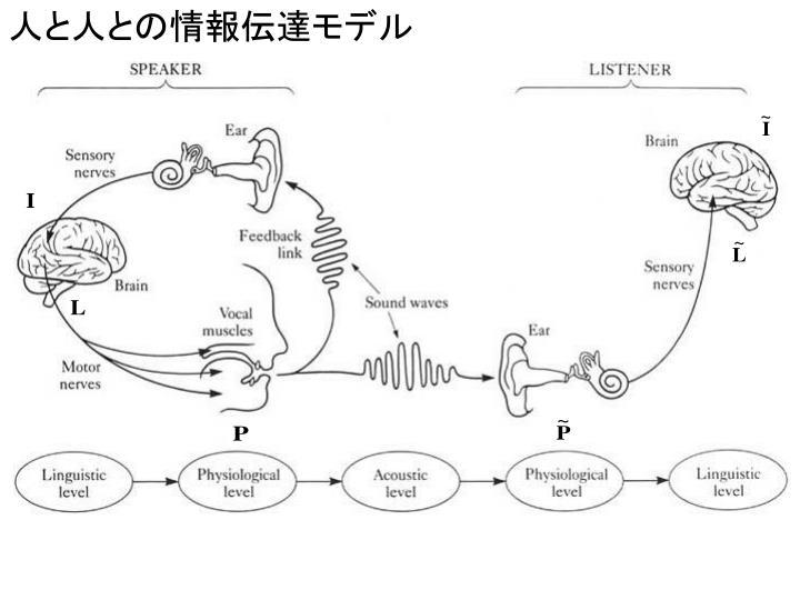 人と人との情報伝達モデル