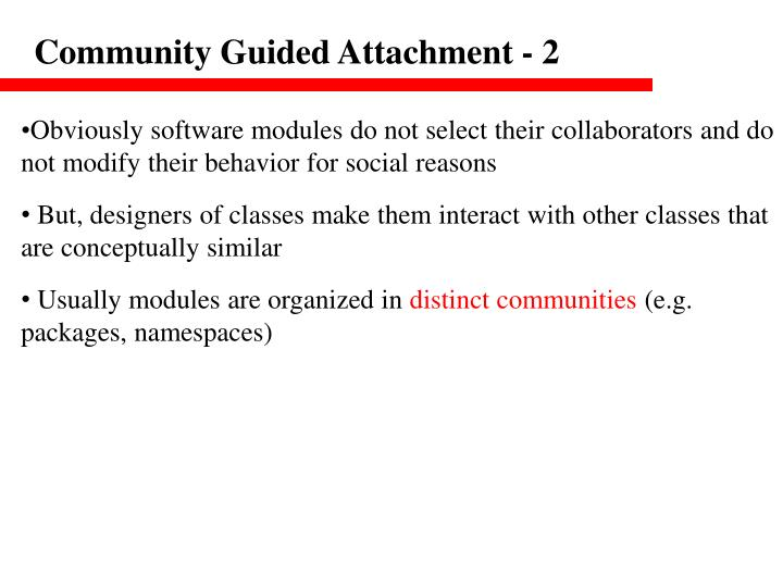 Community Guided Attachment - 2