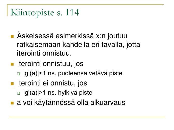 Kiintopiste s. 114