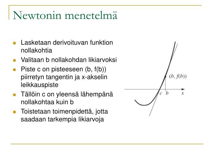 Newtonin menetelmä