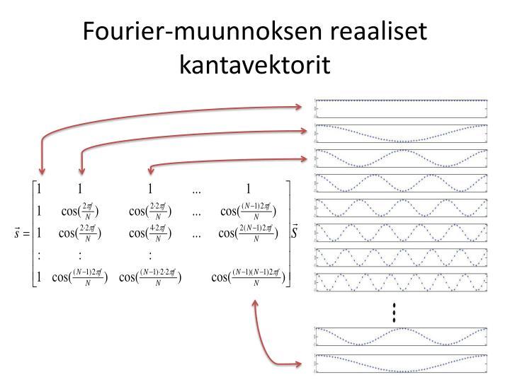 Fourier-muunnoksen reaaliset kantavektorit