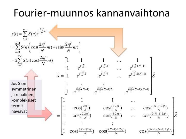 Fourier-muunnos kannanvaihtona
