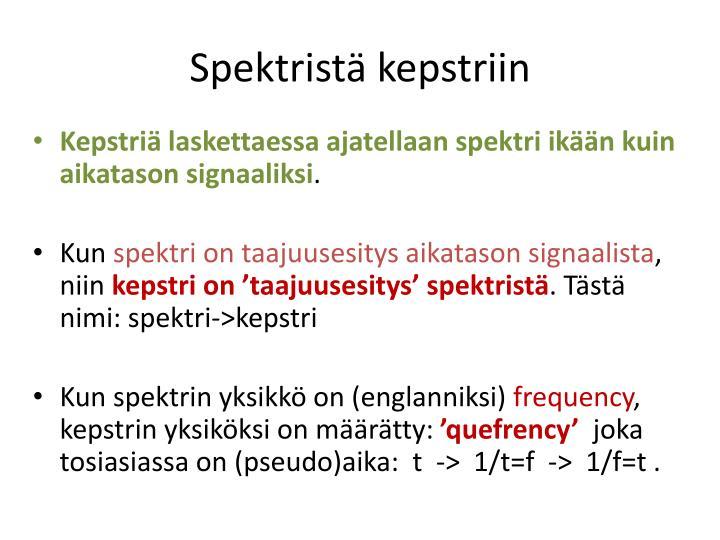 Spektristä