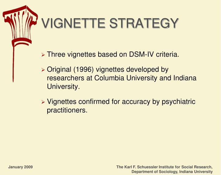 VIGNETTE STRATEGY