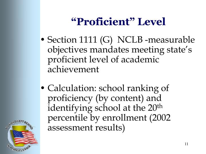 """Proficient"" Level"