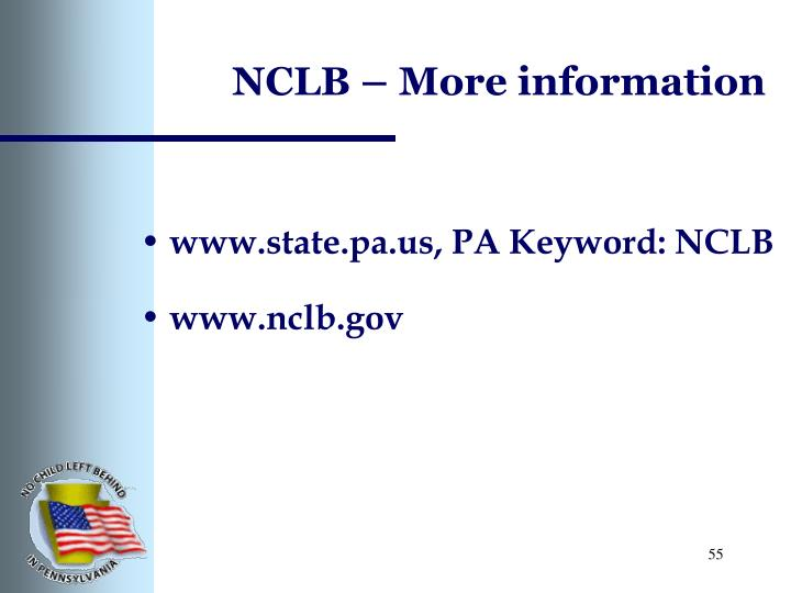 NCLB – More information