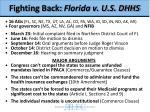 fighting back florida v u s dhhs