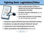 fighting back legislation other