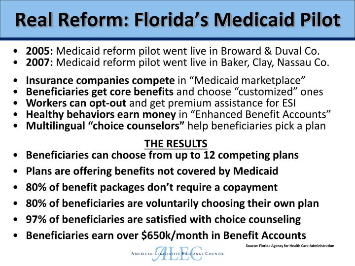 Real Reform: Florida's Medicaid Pilot