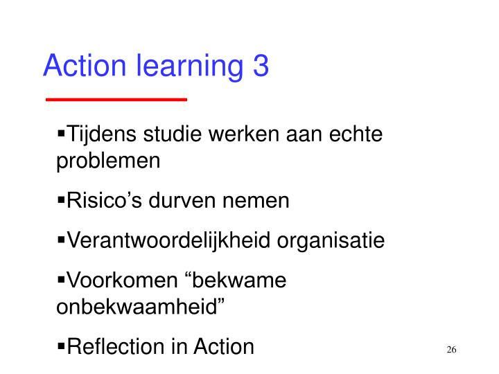 Action learning 3