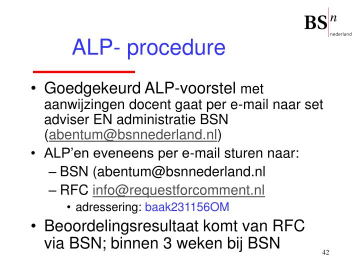 ALP- procedure