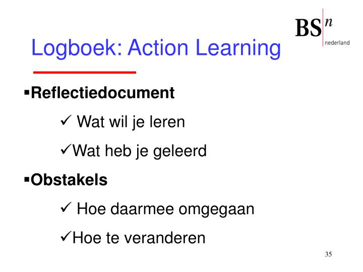 Logboek: Action Learning