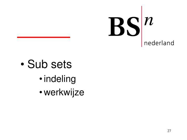 Sub sets