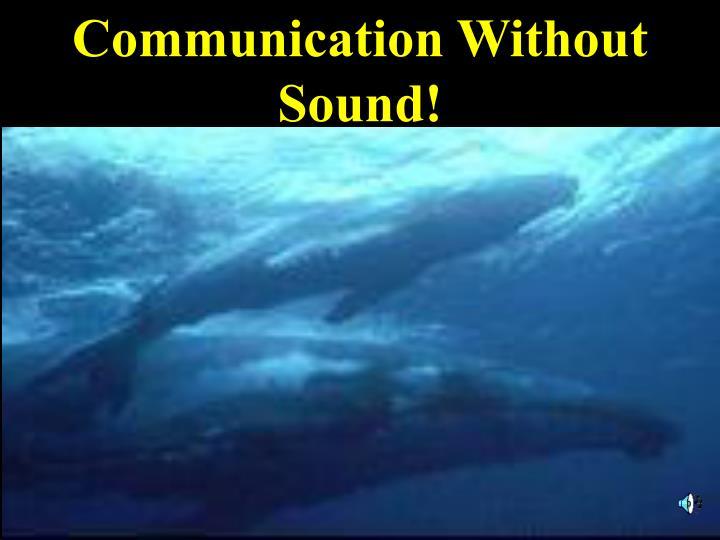 Communication Without Sound!