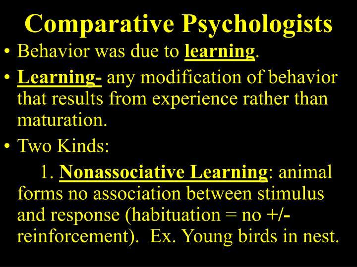 Comparative Psychologists