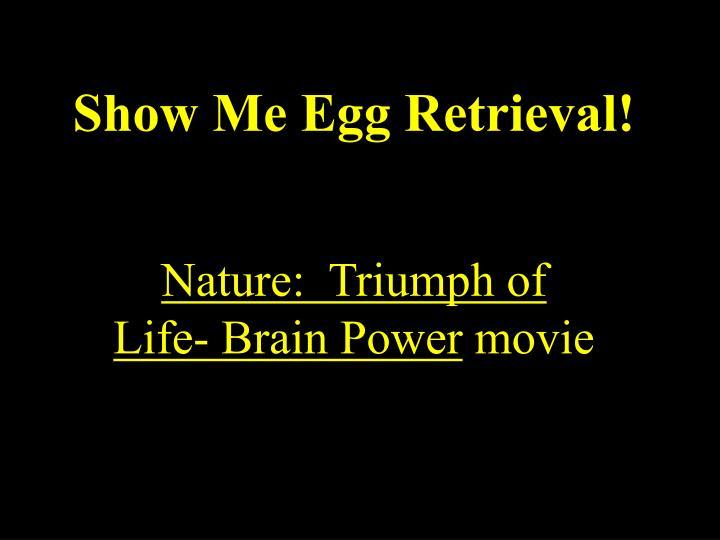 Show Me Egg Retrieval!