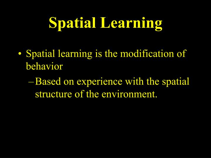 Spatial Learning