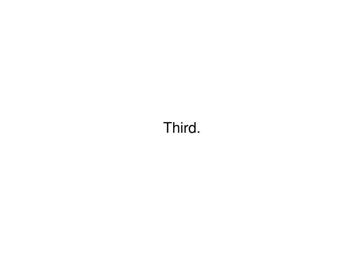 Third.