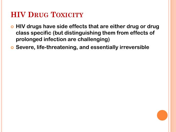 HIV Drug Toxicity