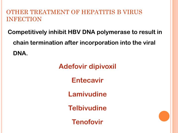 OTHER TREATMENT OF HEPATITIS B VIRUS INFECTION
