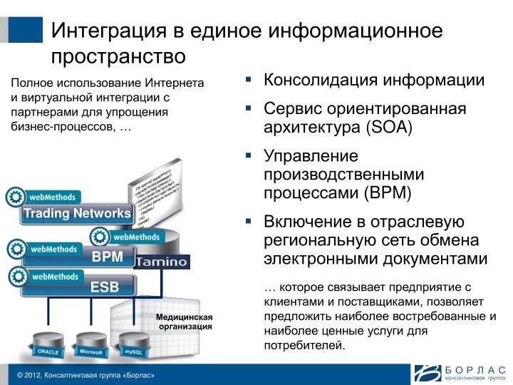 Интеграция в единое информационное пространство