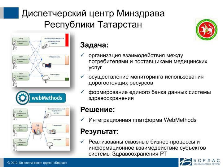 Диспетчерский центр Минздрава Республики Татарстан