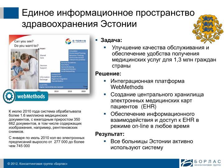 Единое информационное пространство здравоохранения Эстонии