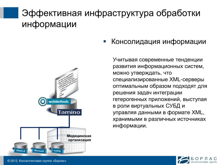 Эффективная инфраструктура обработки информации
