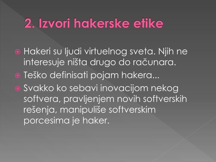 2. Izvori hakerske etike